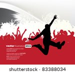 music event background. vector... | Shutterstock .eps vector #83388034