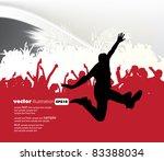 music event background. vector... | Shutterstock .eps vector #83388034
