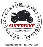 mark stamp with super bike and...   Shutterstock .eps vector #83392882