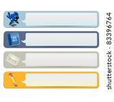 social media banners | Shutterstock .eps vector #83396764