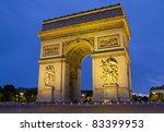 arc de triomphe paris france at ... | Shutterstock . vector #83399953