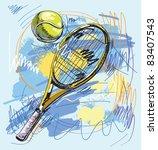 Vector Illustration   Tennis...