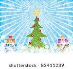 colorful invitation greeting... | Shutterstock . vector #83411239
