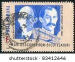 romania   circa 1985  stamp... | Shutterstock . vector #83412646