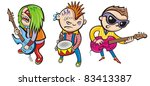 musicians   Shutterstock .eps vector #83413387