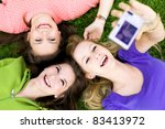 group of friends taking photo | Shutterstock . vector #83413972