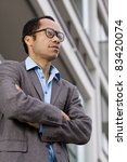 business portrait in front of...   Shutterstock . vector #83420074