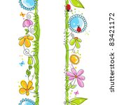 cute floral borders | Shutterstock .eps vector #83421172