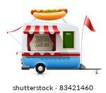 trailer fast food hot dog... | Shutterstock .eps vector #83421460