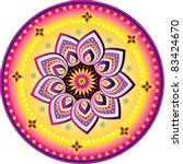 colorful indian pattern | Shutterstock .eps vector #83424670