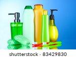 bathroom accessories and soap... | Shutterstock . vector #83429830