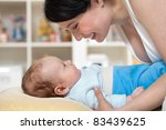 young mother caressing her... | Shutterstock . vector #83439625