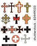set of 14 cross designs  some... | Shutterstock .eps vector #83449033