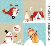 christmas icons | Shutterstock .eps vector #83452471