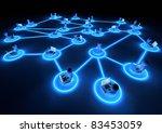 social network concept | Shutterstock . vector #83453059