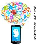 social network  communication...   Shutterstock .eps vector #83454904