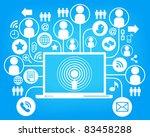 social network  communication... | Shutterstock .eps vector #83458288