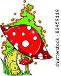 vector tattoo fungus | Shutterstock .eps vector #83459119