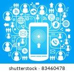 social network  communication... | Shutterstock .eps vector #83460478