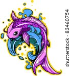vector tattoo fish | Shutterstock .eps vector #83460754