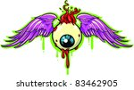 Vector Tattoo Flying Eyeball