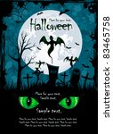 grunge halloween night... | Shutterstock .eps vector #83465758