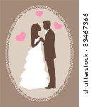 bride and groom   Shutterstock .eps vector #83467366