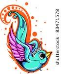 vector tattoo bird | Shutterstock .eps vector #83471578