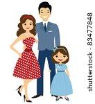 50 s style family   Shutterstock .eps vector #83477848