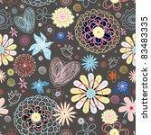 flower texture   Shutterstock .eps vector #83483335