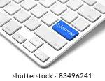 e learning concept   keyboard... | Shutterstock . vector #83496241