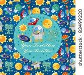 cartoon space card   Shutterstock .eps vector #83499220