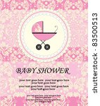 baby shower invitation | Shutterstock .eps vector #83500513