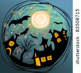 halloween illustration with... | Shutterstock . vector #83508715