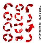 arrow set | Shutterstock .eps vector #83511052