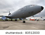 ZHUKOVSKY, RUSSIA - AUGUST 19: McDonnell Douglas KC-10 Extender transport and aerial refueling aircraft presented at the International Aviation and Space salon MAKS, August 19, 2011 in Zhukovsky, Russia. - stock photo