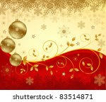 christmas background vector | Shutterstock .eps vector #83514871