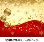 christmas background vector | Shutterstock .eps vector #83514871