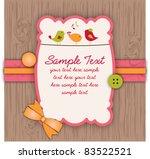 cute birdie scrapbook style... | Shutterstock .eps vector #83522521