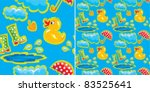 Seamless Pattern With Rubber...