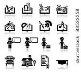 icons set education | Shutterstock .eps vector #83533258