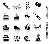icons set birthday and... | Shutterstock .eps vector #83533324