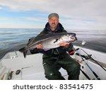Fisherman Holding A Big Fresh...