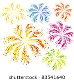 brightly colorful vector... | Shutterstock .eps vector #83541640