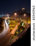 overpass with city night scape... | Shutterstock . vector #83545963