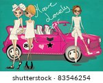 Fashion Girls With A Car