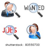 vacant position icon or searching for job or employee - stock vector