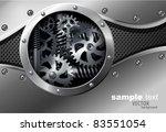 glossy metal plate vector... | Shutterstock .eps vector #83551054