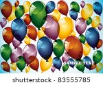 birthday card with balloons on... | Shutterstock .eps vector #83555785
