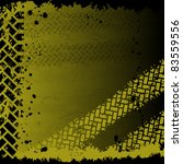 yellow tire track background | Shutterstock .eps vector #83559556